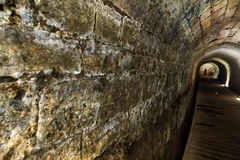 Templar Tunnel in Acco. The Templar tunnel in the old town of Acco, Israel. The Templar tunnel is an underground tunnel residing beneath the town's streets. The Stock Photos