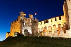Templarium castle, Ponferrada, Santiago Road, Spain stock photo