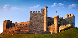 Templarium castle, Ponferrada, Santiago Road, Spain Royalty Free Stock Photo