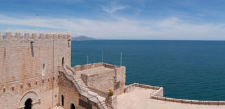 Templars castle in Peniscola Stock Photography