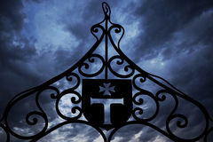 Templars iron gate stock images