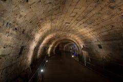 The Templars' Tunnel in Akko Royalty Free Stock Image