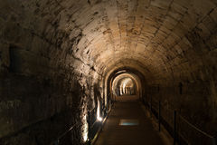 The Templars' Tunnel in Akko Royalty Free Stock Photo