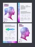 Templat плана дизайна, рогульки, крышки, буклета и отчета о брошюры Стоковая Фотография RF