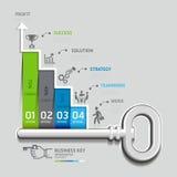 Templat infographic del concepto dominante de la escalera del negocio libre illustration
