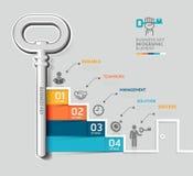 Templat infographic di concetto chiave della scala di affari Fotografie Stock Libere da Diritti