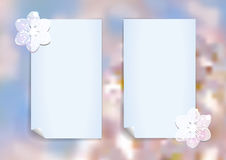 Template with abstract cherry blossom Royalty Free Stock Photography
