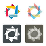 Template with abstract Star collection Royalty Free Stock Images