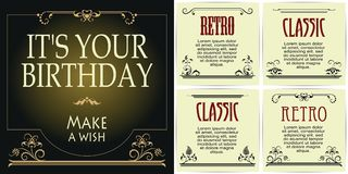 Template for advertisements, flyer, web, invitations or greeting Royalty Free Stock Images