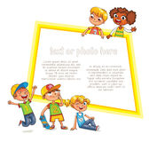 Template for advertising brochure. Ready for your message Royalty Free Stock Image