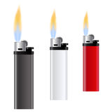 Template for advertising and corporate identity. White, red and black lighter on white background. Burning fire. Vector illustration Stock Image