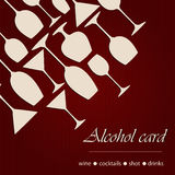 Template of a alcohol card Stock Photos