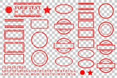 Free Template Alphabet, Number, Percent, Dollar, Dot, Star, Rectangle, Lines Oval Circle Rubber Stamp Effect For Your Element Design Royalty Free Stock Photo - 119683115