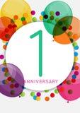 Template 1 Anniversary Congratulations, Greeting Card, Invitatio Royalty Free Stock Photos