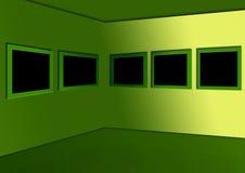 Template - an art exhibition or photos. Royalty Free Stock Photos