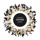 Vector template of coffee branch royalty free illustration