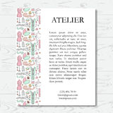 Template for atelier card Stock Image