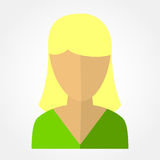 Template avatars blonde girl Royalty Free Stock Photo