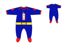Template of Baby boys one piece romper design Royalty Free Stock Photography