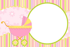 Template for baby's photo album. Or postcard Royalty Free Stock Image