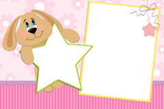 Template for baby's photo album. Or postcard Royalty Free Stock Photography