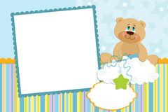 Template for baby's photo album. Or postcard Stock Image