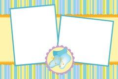 Template for baby's photo album Stock Photo