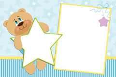 Template for baby's photo album. Or postcard Stock Images