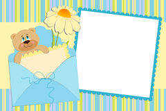 Template for baby's photo album. Or postcard Stock Photo