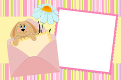 Template for baby's photo album Royalty Free Stock Photography