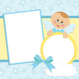Template for baby's photo album. Or postcard Stock Photography