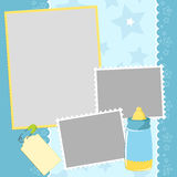 Template for baby's photo album Royalty Free Stock Photo
