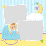 Template for baby's photo album Royalty Free Stock Images