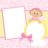 Template for baby's photo album Stock Image