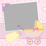 Template for baby's photo album Stock Images