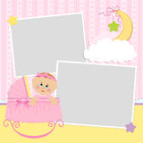 Template for baby's photo album Royalty Free Stock Image