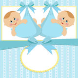 Template for baby's postcard stock photography