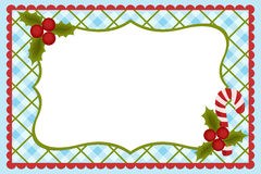 Template for baby's Xmas photo album. Or postcard Royalty Free Stock Image