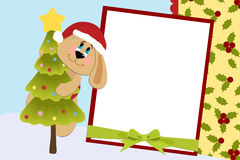 Template for baby's Xmas photo album Royalty Free Stock Image