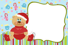 Template for baby's Xmas photo album Royalty Free Stock Images