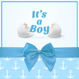 Template for baby shower celebration Stock Photography