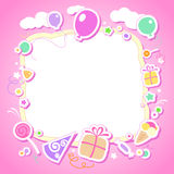 Template for babys photo album. vector illustration