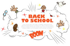Template back to school - ruction Royalty Free Stock Image