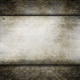 Template background - Old metal plate Royalty Free Stock Photography