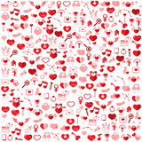 Template Background Valentine's day, Stock Images