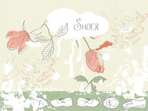 Template for backgrounds with shoes Royalty Free Stock Photo