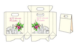 Template bags for cosmetics Stock Images