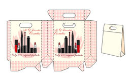 Template bags for cosmetics Stock Photo