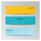 Template of banner  with abstract elements Royalty Free Stock Photos