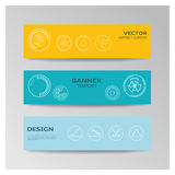 Template of banner  with abstract elements Royalty Free Stock Images